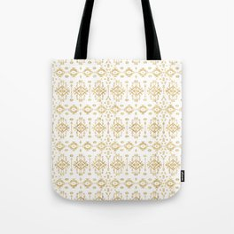 Luxury gold geometric tribal Aztec pattern Tote Bag