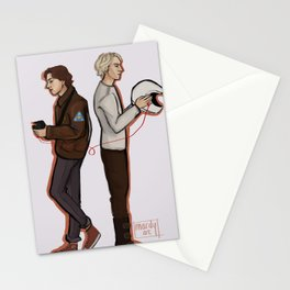 Red string of fate Stationery Cards