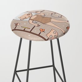 MUOUS Doll Bar Stool
