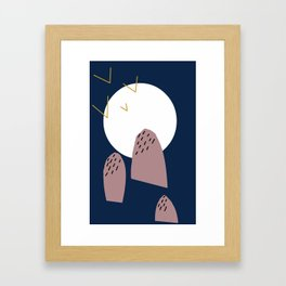 Unperfected mountains  Framed Art Print