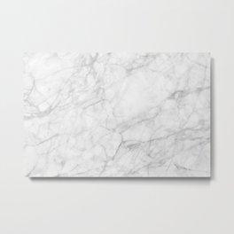 White Marble 009 Metal Print