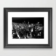 The City Where Wind Blow Framed Art Print