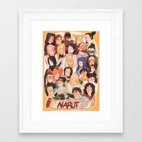 naruto Framed Art Prints featuring Naruto by kuma naru