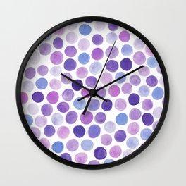 Lavender Purple Dots Wall Clock