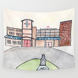 SHA Watercolor, Sacred Heart Academy, Louisville, KY Wall Tapestry