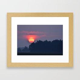 Morning Fire Framed Art Print