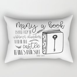 Many a Book Rectangular Pillow