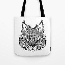 LYNX head. psychedelic / zentangle style Tote Bag