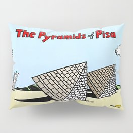 The Pyramids of Pisa Pillow Sham