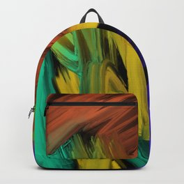 Abstract 3 Painting in Oil Backpack