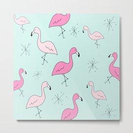 Flamingo Star Metal Print