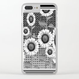 B&W NEW YORK STYLE FLORAL ART Clear iPhone Case