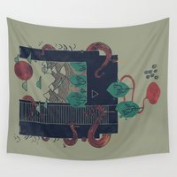 lovecraft Wall Tapestries featuring A World Within by Hector Mansilla