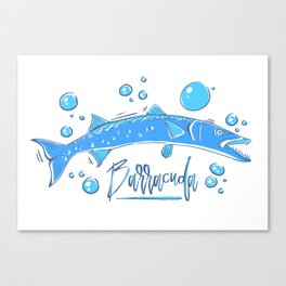 Big Blue Barracuda Canvas Print
