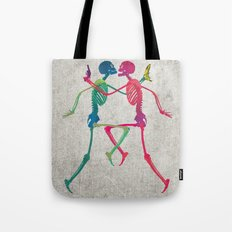 Skeleton Crush with Banana n Gun Tote Bag