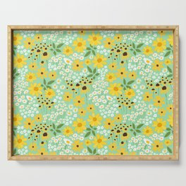 Yellow Flower Meadow Serving Tray