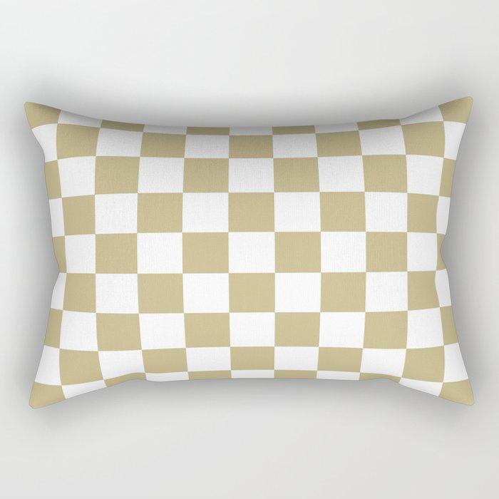 Checker (Sand/White) Rectangular Pillow