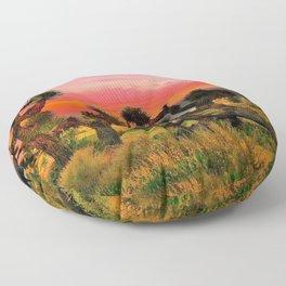 Sunset at Joshua Tree National Park, California, USA Floor Pillow