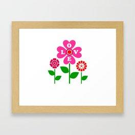 Love flowers Framed Art Print
