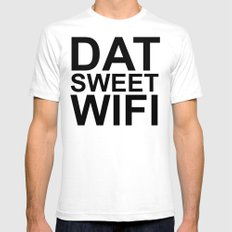 Dat Sweet Wifi Mens Fitted Tee SMALL White