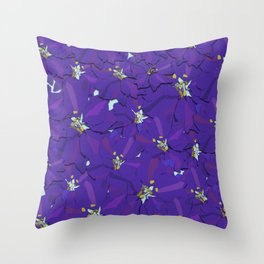 Larkspur Love Throw Pillow