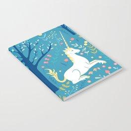 Teal unicorn garden Notebook