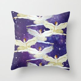 Christmas angels from the Nutcracker ballet Throw Pillow
