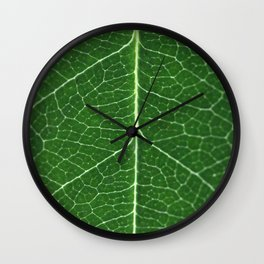 Details of a leaf Wall Clock