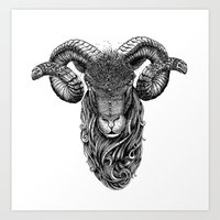 aries Art Prints featuring Aries by PAgata