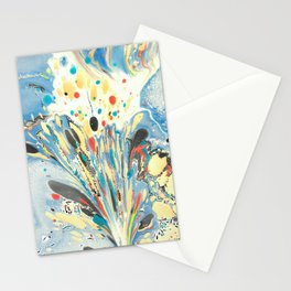 Paper marbling Stationery Cards