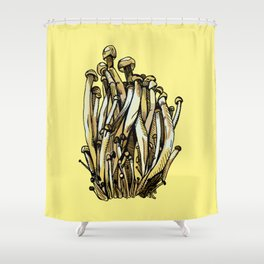 Enokitake Shower Curtain