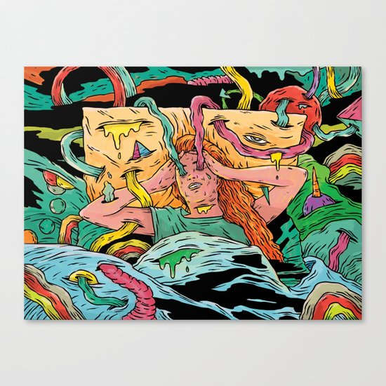 Bad bed time Canvas Print