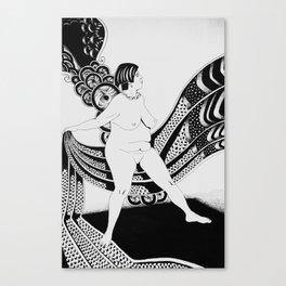 Crisalida black and white Canvas Print