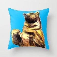 Central Park Bear Throw Pillow