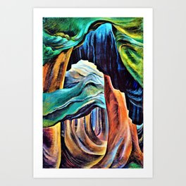 Emily Carr - Forest, British Columbia - Digital Remastered Edition Art Print