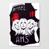 ahs Canvas Prints featuring AHS by Tante Sui