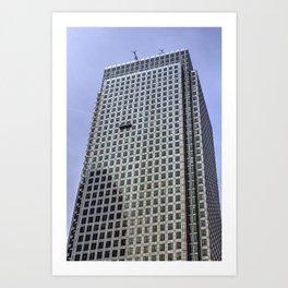 Window Cleaners Canary Wharf Tower Art Print