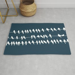 Birds on Wire Rug