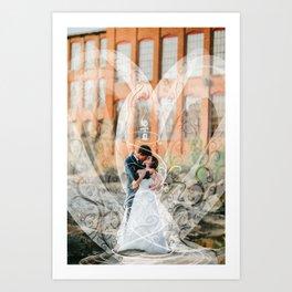 Edward and Holly- Art on wedding photo Art Print