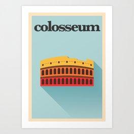 Minimal Colosseum Poster Art Print