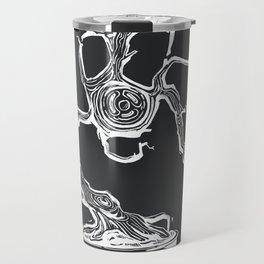 gas mask bonsai white Travel Mug