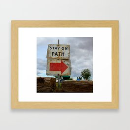 Stay On Path Framed Art Print