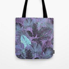 Tropical Leaf Lilac Tote Bag
