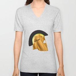 Roman Gladiator Helmet Unisex V-Neck