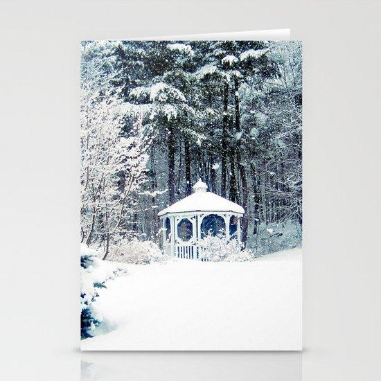 Snowy Gazebo Stationery Cards