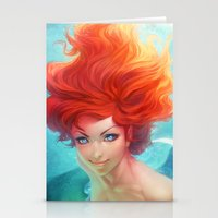 under the sea Stationery Cards featuring Under The Sea by Artgerm™