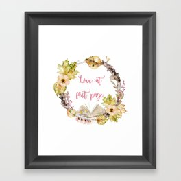 Autumn Love at first page Framed Art Print