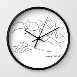 Young Woman With Face Buried In Arms (jeune Femme Le Visage Enfoui Dans Les Bras), Henri Matisse, Ar Wall Clock