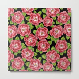 Alpen Rose allover Metal Print