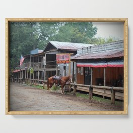 One Horse Town Serving Tray